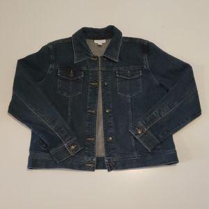 Charter Club Jean Jacket Size Petite Medium Denim